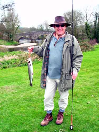 A fish for Les at Exe Valley fishery